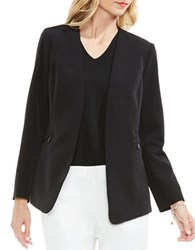 Vince Camuto Solid Open Front Blazer Black