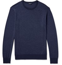 Club Monaco Melange Knitted Sweater Storm Blue