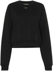 Off White Crystal Embellished Jumper Black