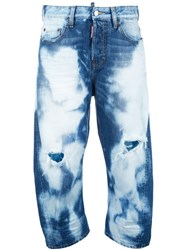 Dsquared2 Kawaii Heavily Bleached Jeans Blue