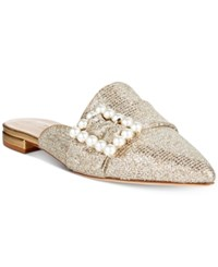 Kate Spade New York Broadway Pointed Toe Mules Gold