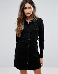 Jdy Western Denim Dress Black