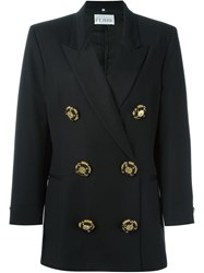 Gianfranco Ferre Vintage Double Breasted Blazer Black