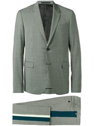 Valentino Houndstooth Two Piece Suit Green