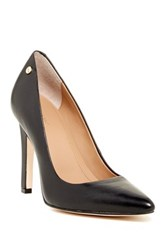 Calvin Klein Brady Leather Pointed Toe Pump Wide Width Available Black