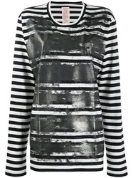 Y's Striped Print Jumper White