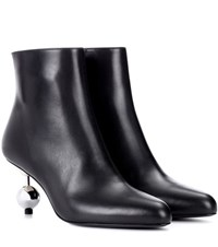 Marni Leather Ankle Boots Black