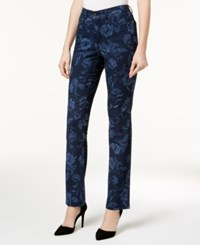 Charter Club Lexington Printed Straight Leg Jeans Created For Macy's Intrepid Blue Combo