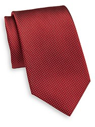 Yves Saint Laurent Neat Dot Silk Tie Red