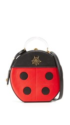 Charlotte Olympia Atkinson Top Handle Case Real Red Black