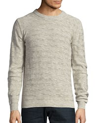 Selected Textured Cotton Sweater Papyrus
