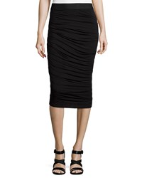 Bailey 44 Scotty Ruched Pencil Skirt Black