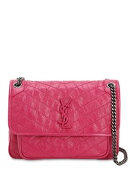 Saint Laurent Medium Niki Monogram Leather Bag Pink