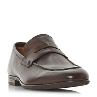 Howick Purser Saddle Apron Loafers Brown