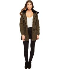 Blank Nyc Parka Jacket With Faux Fur On Hood In Stoners Paradise Stoners Paradise Women's Coat Brown