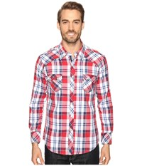 Rock And Roll Cowboy Long Sleeve Snap B2s8419 Red Men's Clothing