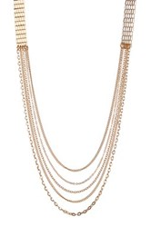 14Th And Union Long Drape Chain Mesh Necklace Metallic