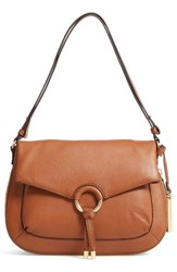 Vince Camuto Adina Leather Shoulder Crossbody Bag Red Dark Rum