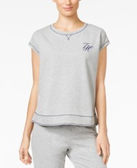 Tommy Hilfiger Short Sleeve Pajama Sweatshirt Heather Grey