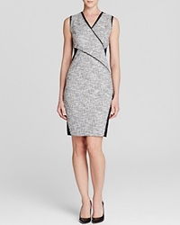 T Tahari Lorna Tweed Panel Dress