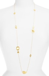 Marco Bicego 'Lunaria' Long Station Necklace Yellow Gold