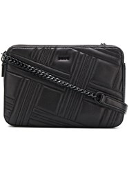Donna Karan Allen Quilted Shoulder Bag Black
