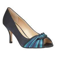 Lotus Gilberto Peep Toe Heels Blue