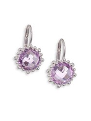 Anzie Dew Drop Snowflake Amethyst Drop Earrings Light Purple