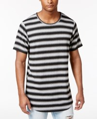 Jaywalker Men's Ribbed Stripe Extended Hem T Shirt Only At Macy's Ombre Shadow Strip