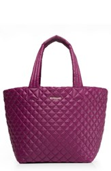 M Z Wallace Mz 'Medium Metro' Quilted Tote Burgundy Elderberry