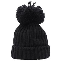 French Connection Molly Slouch Beanie Hat Black