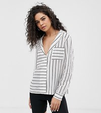 Noisy May Tall Stripe Shirt Cream