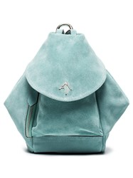 Manu Atelier Blue Mini Fernweh Suede Backpack