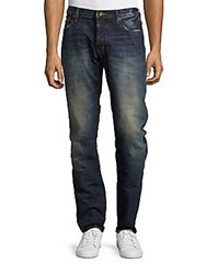 Prps Salute Low Rise Straight Leg Jeans Enzyme Blue
