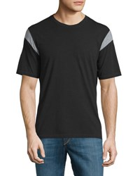 Rag And Bone Tobin Contrast Panel Short Sleeve Tee Black