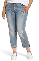 Kut From The Kloth Plus Size Women's Catherine Stretch Distressed Boyfriend Jeans Regarded