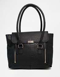 Only Work Bag With Snake Effect Black