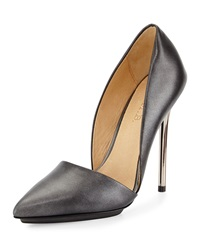 L.A.M.B. Trina Leather Pump Gunmetal