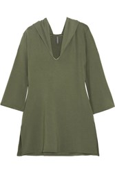 Elle Macpherson Body Chic Hooded French Terry Nightdress Army Green