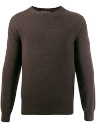 N.Peal The Oxford Round Neck Sweater Brown