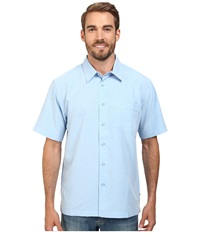 Quiksilver Waterman Centinela 4 Traditional Polynosic Woven Top Azure Men's Clothing Blue