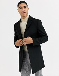 Rudie Premium Wool Blend Overcoat Black