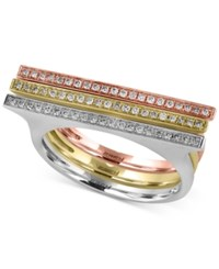 Effy Collection Trio By Effy Diamond Ring 1 5 Ct. T.W. In 14K Yellow White And Rose Gold Tri Tone