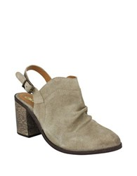 Naughty Monkey Arizona Suede Slingback Mules Taupe