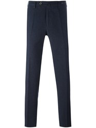 Pt01 Slim Fit Tailored Trousers Blue