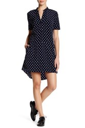 Cupcakes And Cashmere V Neck Short Sleeve Print Dress Multi