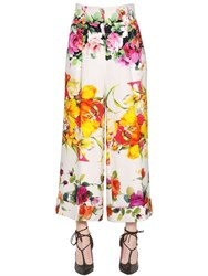 Blumarine Floral Printed Stretch Cady Pants
