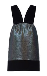Isa Arfen Disco Silk Risque Mini Dress Black