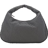 Bottega Veneta Women's Intrecciato Large Hobo Light Grey