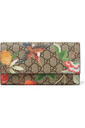 Gucci Printed Coated Canvas Continental Wallet Beige
